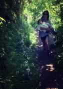 path to land with child